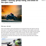 Motorcycle safety open road