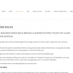Vinrac timber wine racks