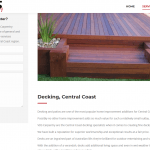 Carpentry decking service page