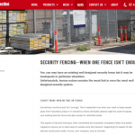 Security fencing web content