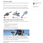 Roof safety anchor points web content
