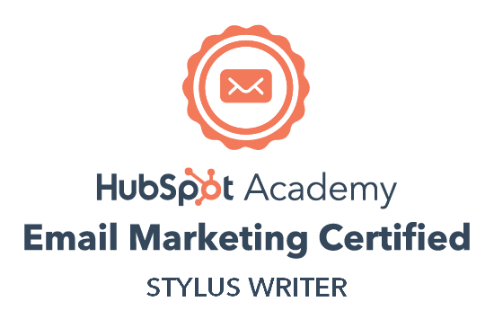 HubSpot email marketing certified for Why Styluswriter?