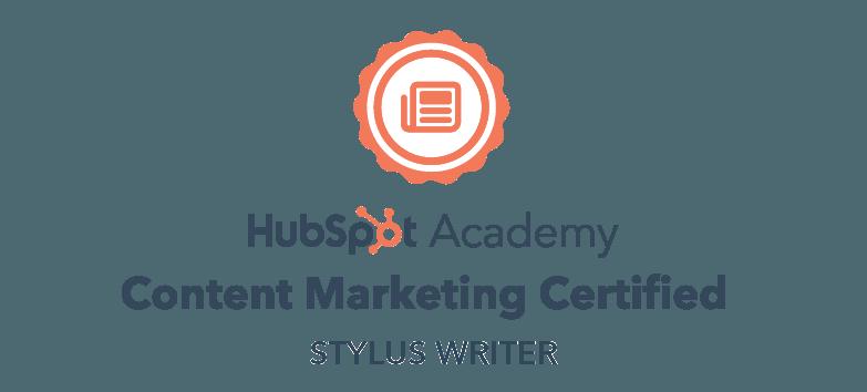 HubSpot Content marketing certified copywriting