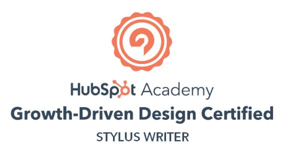 Why Styluswriter? He's HubSpot certified.